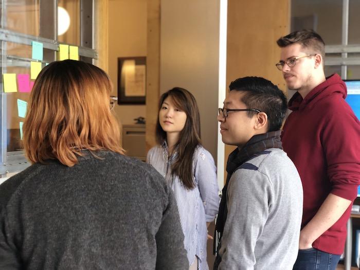 design team huddle