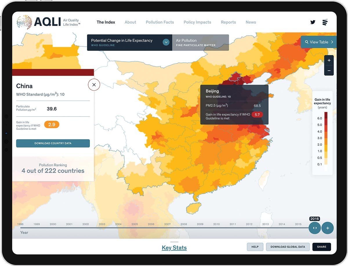 Uchicagos Air Quality Life Index Launches Constructive - Air-quality-map-of-us