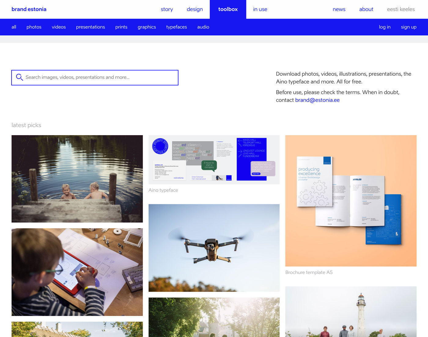 country of estonia's online brand and design system