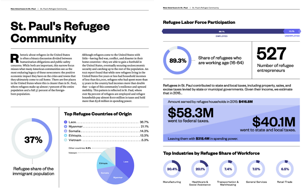 NAE St. Paul Immigrant Community story and statistics visualized