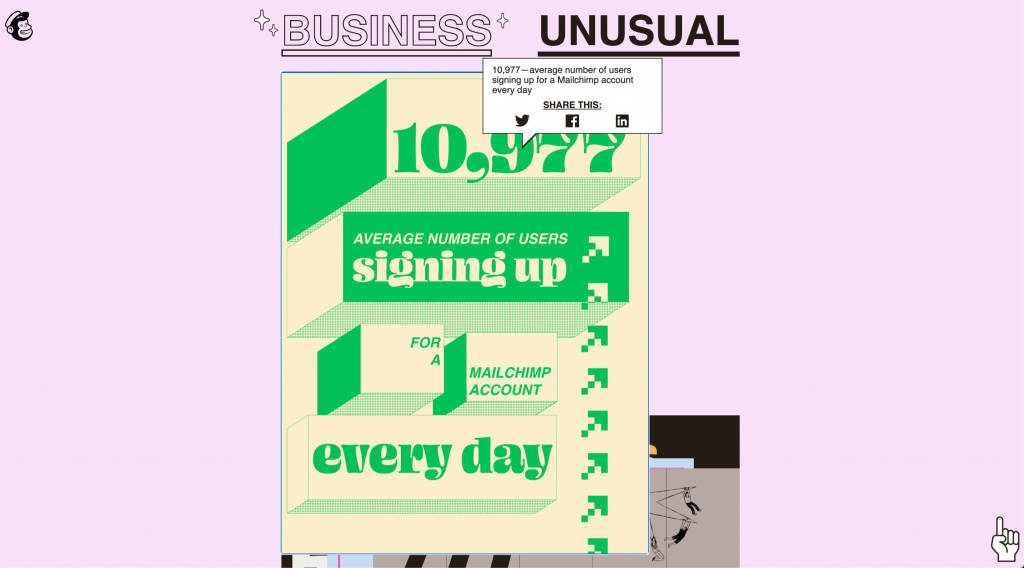 mailchimp annual report with social share visable